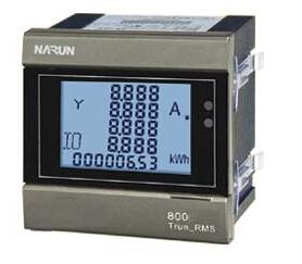 上海纳宇PD800-F44三相四线多功能表72*72